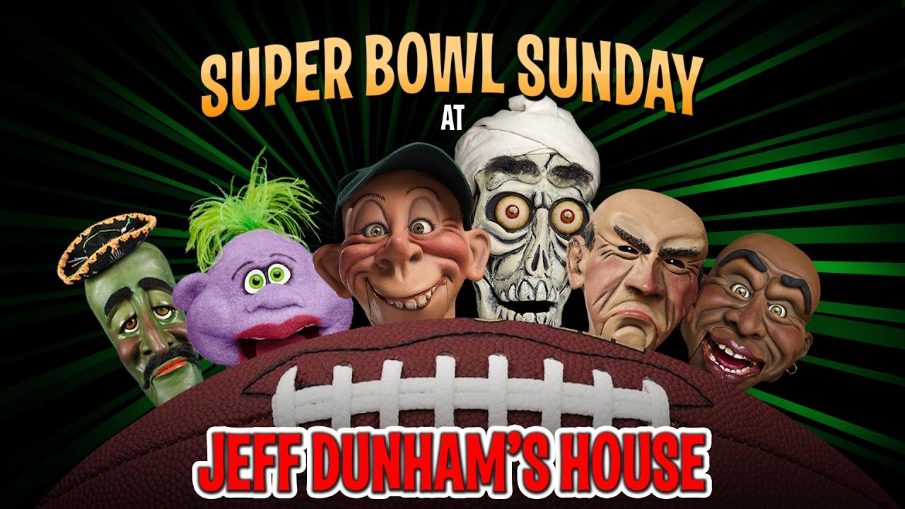 falcons vs patriots super bowl sunday at jeff dunham s house jeff
