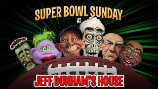 Falcons vs. Patriots! Super Bowl Sunday at Jeff Dunham's House |JEFF DUNHAM