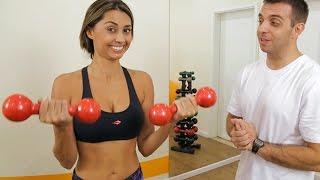 Treino para Braços / exercícios para o tchauzinho - Luiza Gomes