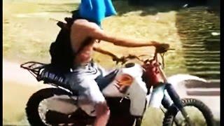 Tombo Feio e engraçado de moto  - Tentando se matar de DT kkkk