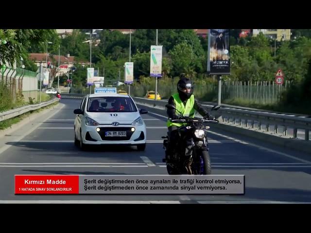 DİREKSİYON SINAVI - MOTOSİKLET