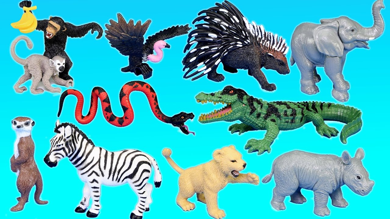 Best Animal Planet Toys For Kids And Toddlers : Jungle adventure wild animals playset for kids animal