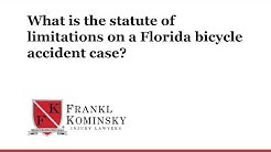 What is the statute of limitations on a Florida bicycle accident case?