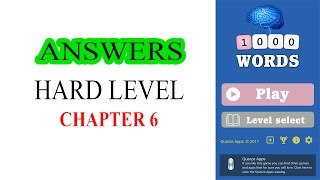 1000 WORDS GAME HARD LEVEL CHAPTER 6