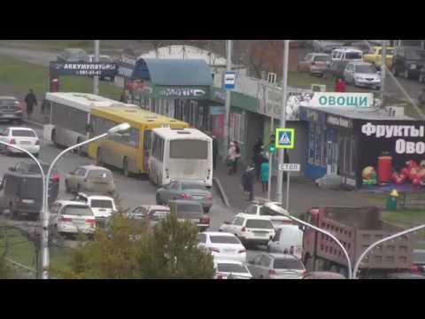 Акция протеста против высоких цен на топливо в Красноярске. Общественный транспорт 18.10.2018г