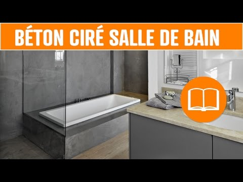 déco béton ciré salle de bain sol mur douche design