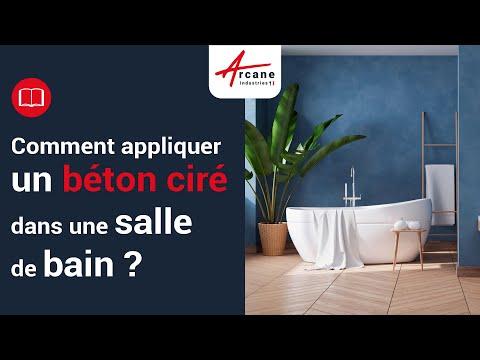déco béton ciré salle de bain sol mur douche design - YouTube