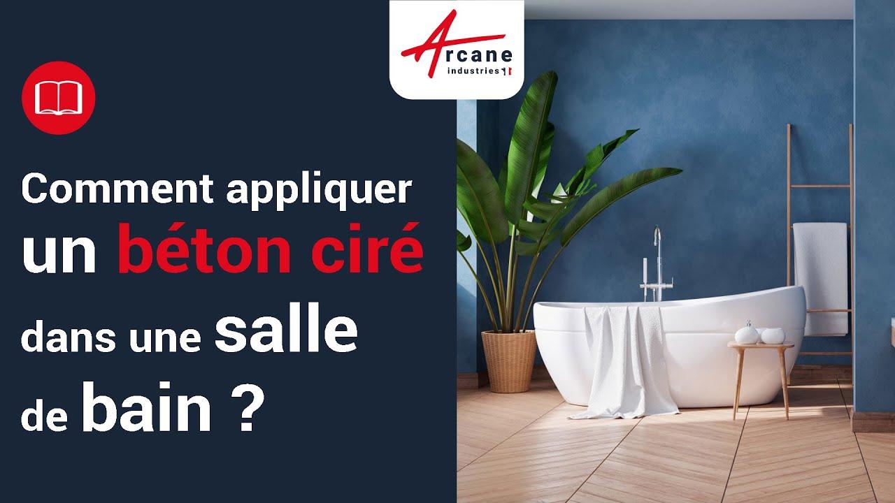 deco beton cire pour salle de bain sol mur douche design