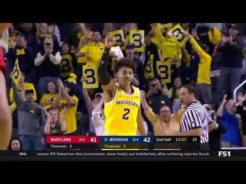 #23 Michigan holds off Maryland 68-67...1-15-2018