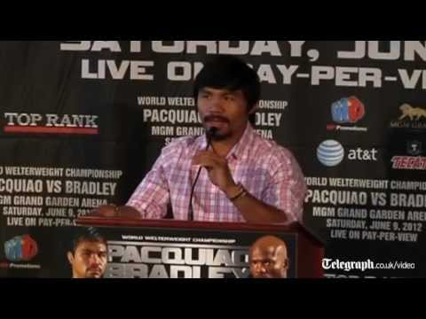 Manny Pacquiao praises Timothy Bradley's toe to toe fighting