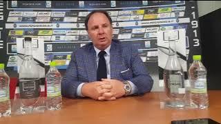 Il dirigente del Bisceglie De Martino al termine di Bisceglie - V.Francavilla Coppa Italia