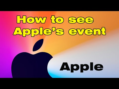 How to see apple event september 2021