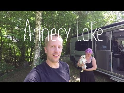 Visiting Annecy lake and wild camping in the French Alps