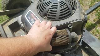 how to change the air filter in the Swisher FC10544BS 10.5 HP 44-Inch Finish Cut Trail Mower