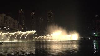 Dubai Dancing Fountain - Eid Al Fitr 2015