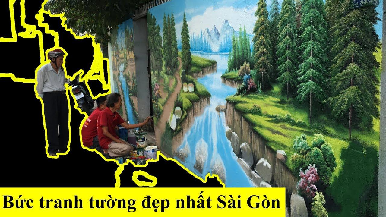 Đi Tìm Bức Tranh Tường Cực Lớn Do Cụ Già Tật Nguyền Vẽ Ở Gò Vấp Sài Gòn
