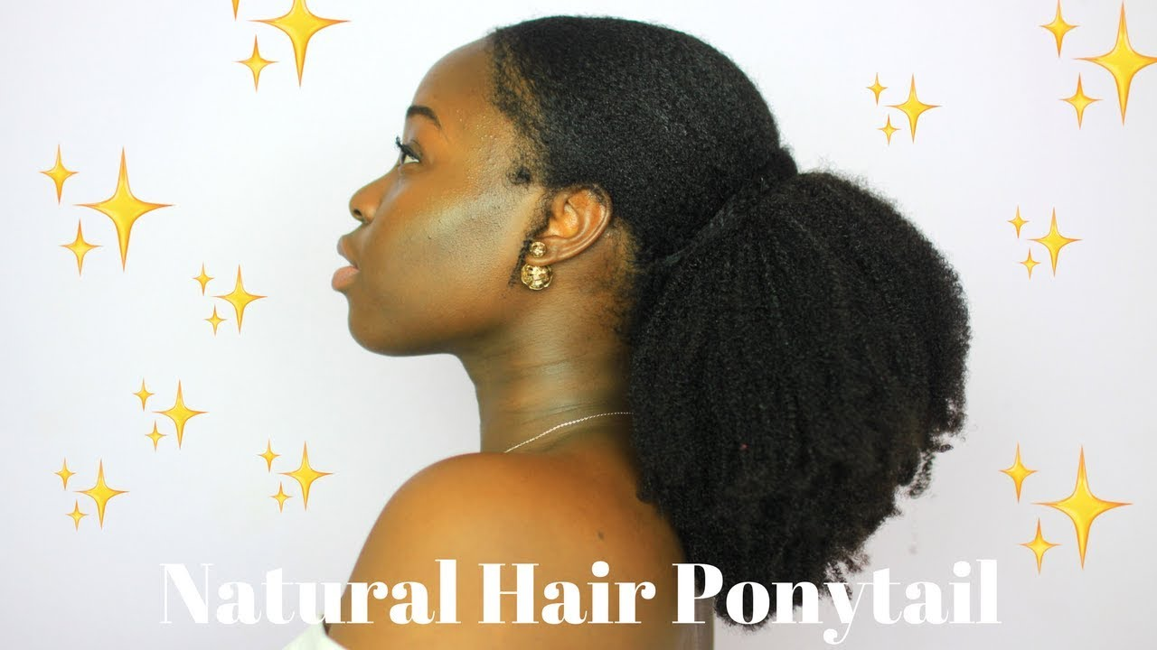 4c 4b Natural Hair Sleek Ponytail Hergivenhair Kinky