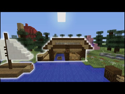 Minecraft Tutorial: How To Make A Boat House