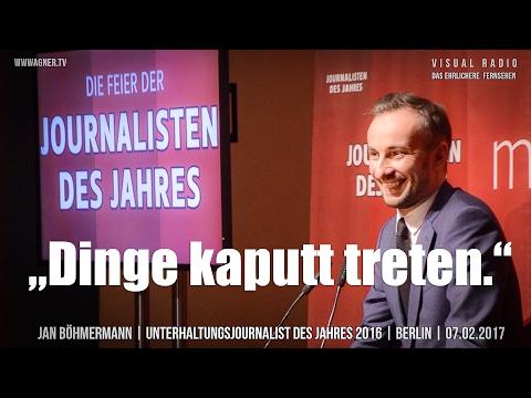 Jan Böhmermann - Unterhaltungsjournalist des Jahres 2016