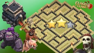 Best Th9 War Base 2017 Anti 3 Star Anti 2 Star With Bomb Tower Anti Everything Anti Valkyrie