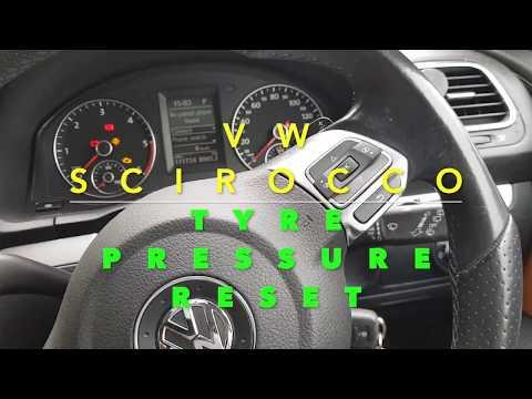 VW Scirocco/Golf Tyre Pressure Reset