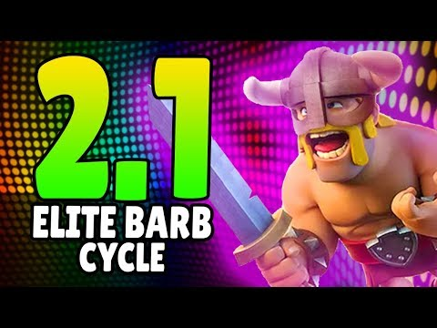 THE FASTEST RAGED ELITE BARBARIANS DECK EVER! 2.1 CYCLE! [GONE MEME]