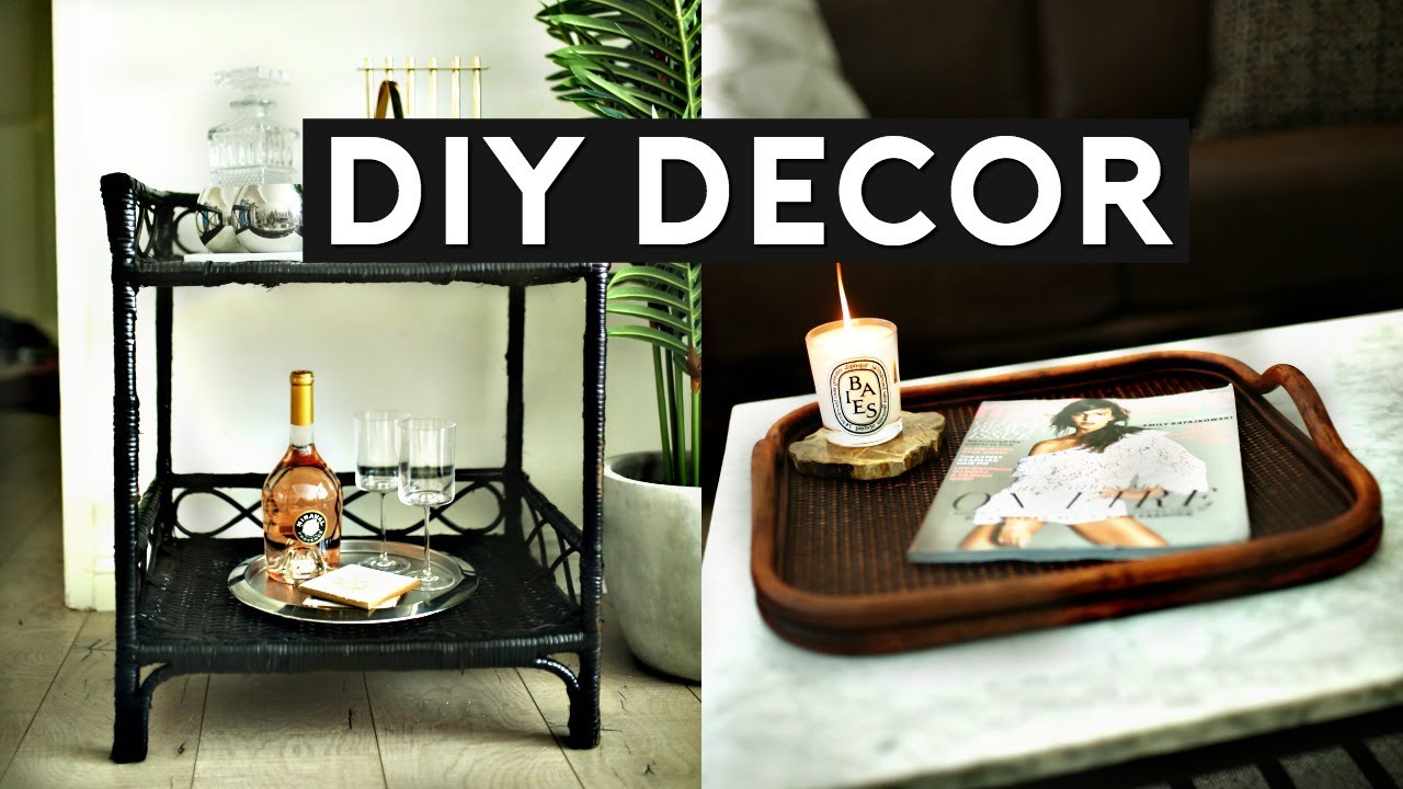 Diy room decor thrift store flip upcyle inexpensive for Diy room decorations youtube