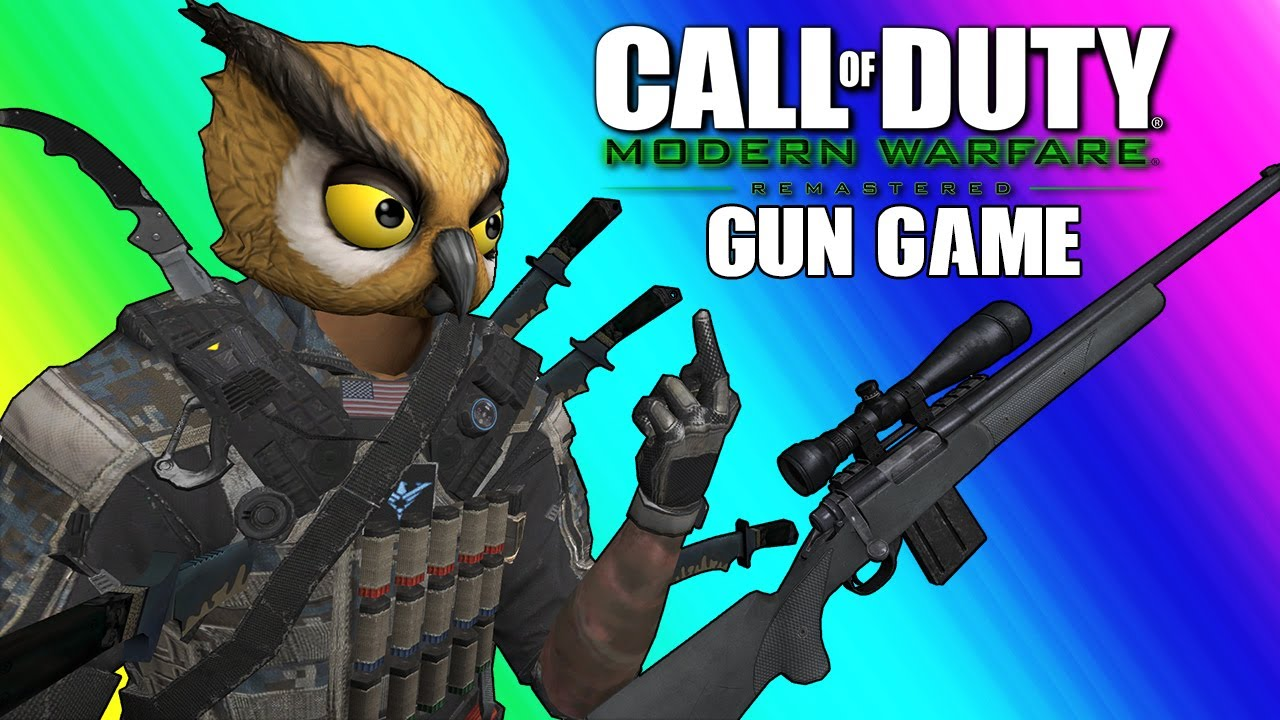 Cod4 Remastered Gun Game Funny Moments The Irish Knife Duo Youtube