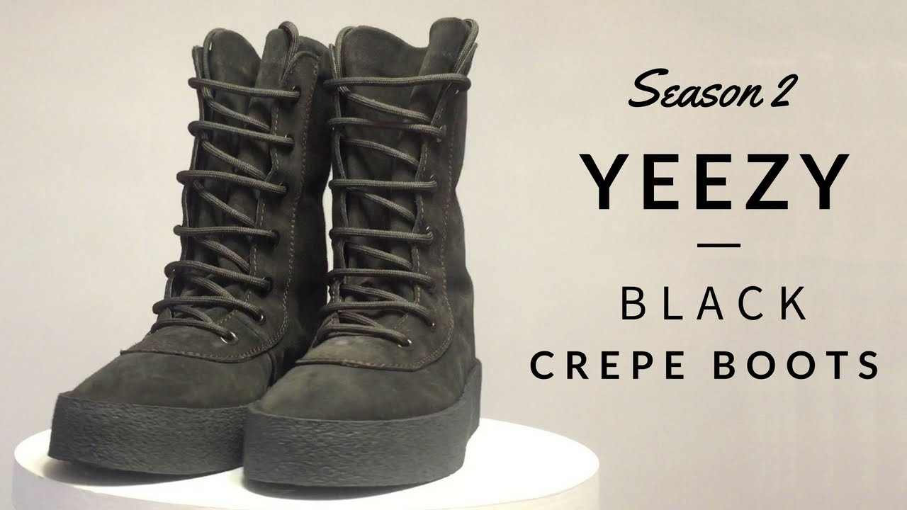 a7b5f94d067 Yeezy Season 2 Black Crepe Boots Review - YouTube