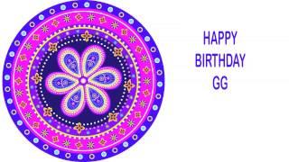 GG   Indian Designs - Happy Birthday