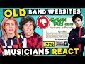 Musicians React To OLD Band Websites (Panic! At The Disco, Eminem, Snoop Dogg)