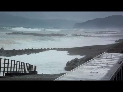 Typhoon Neoguri Hits Japan's Kyushu Island