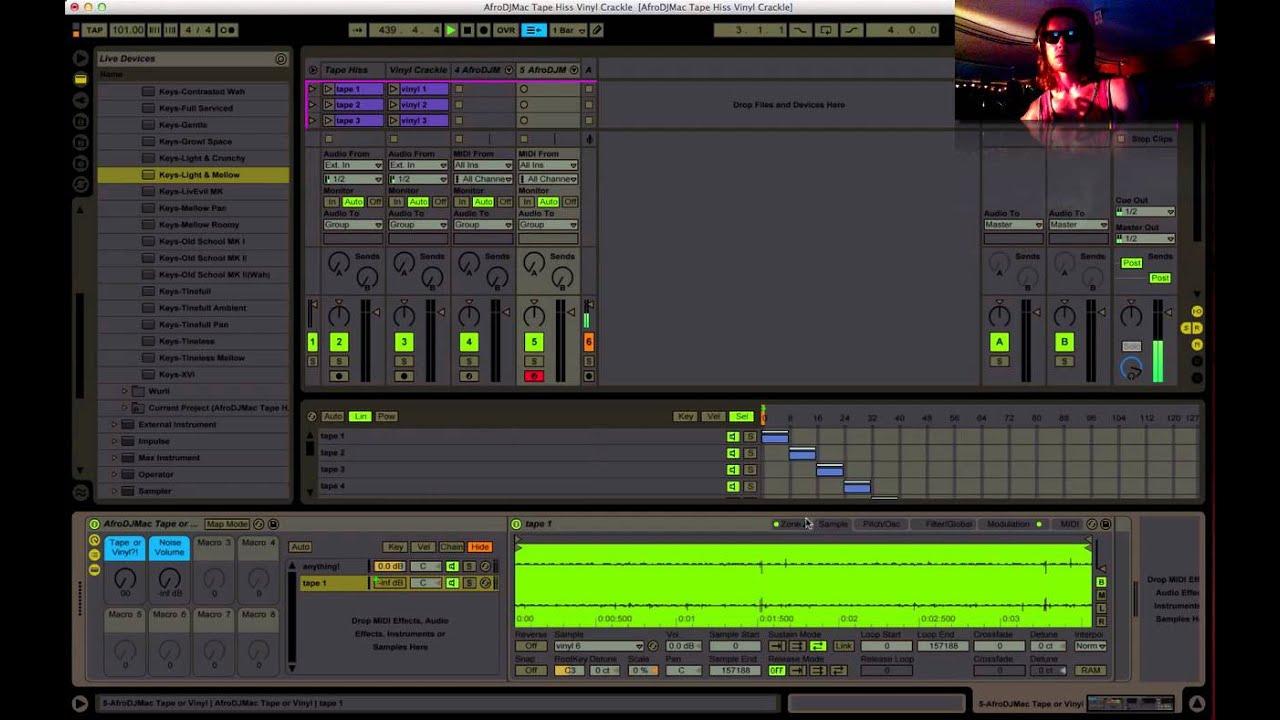 Ableton Live Instrument #60: Tape Hiss Vinyl Crackle