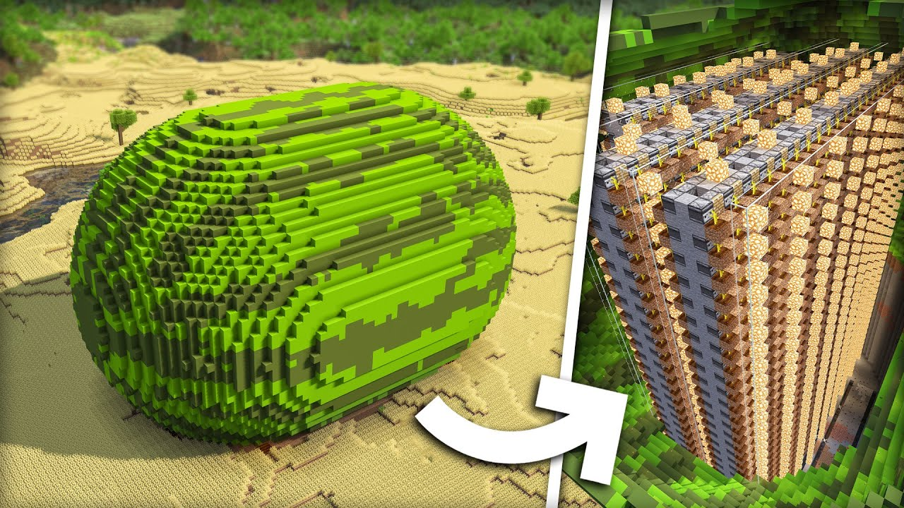 Download I Built a Huge MELON Farm in Minecraft