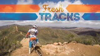 Laying down fresh tracks after a rain at pozo hills