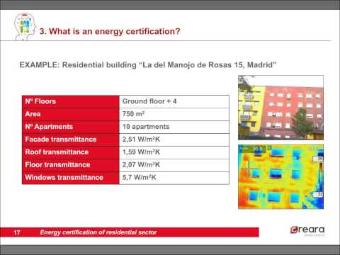 Energy certification of residential sector