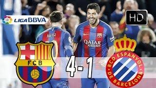 Goals Barcelona vs Espanyol 4-1 { Full Screen }  Suspended { Arabic }  HD