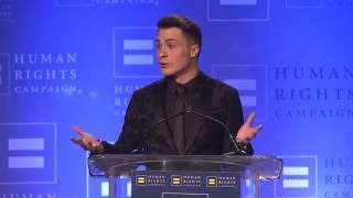Colton Haynes Receives the HRC Visibility Award