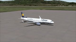 FS2004 -Airbus A320NEo - Athens, Greece to Rome, Italy