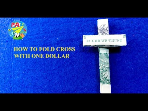 Dollar Origami|How To Fold Cross IN GOD WE TRUST With One Dollar