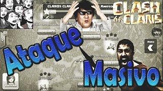 ATAQUE MASIVO EN GUERRA ÉPICO   Atacando en el último minuto   Clash of Clans   COC