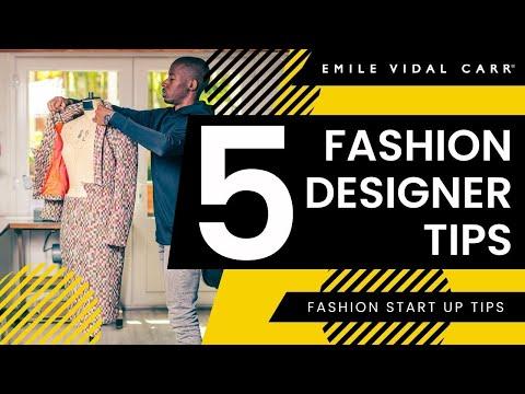 5 Fashion Designer Tips How To Make Money Fashion Start Up Advice Emile Vidal Carr Youtube