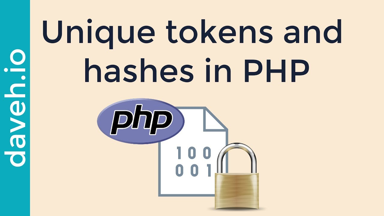 Generate unique, random tokens and secure hashes in PHP