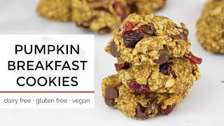 Pumpkin Breakfast Cookies | Easy Healthy Vegan Cookie Recipe thumbnail