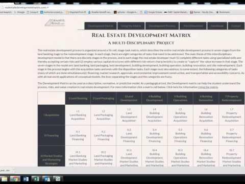 Intro to the Real Estate Development Matrix