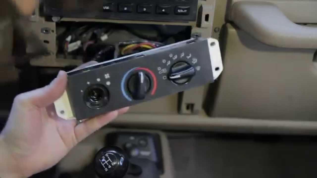 replace broken jeep wrangler blower switch (1999 model)  YouTube