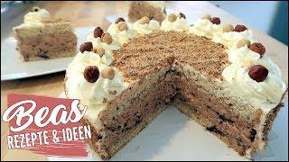 Haselnuss Eistorten Rezept | Mein Geburtstagskuchen - Kalte Torte mit Haselnussbiskuit backen