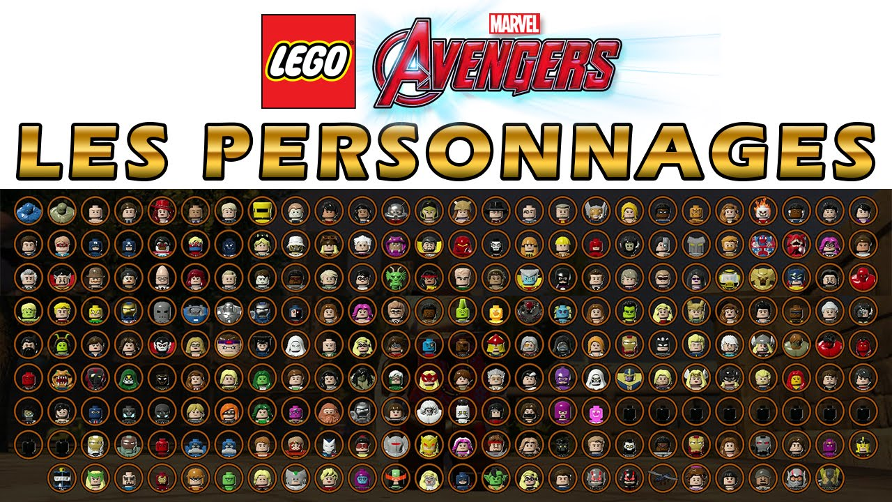marvel lego tous les personnages. Black Bedroom Furniture Sets. Home Design Ideas