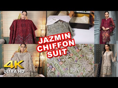 Jazmin Chiffon Collection 2019 Unboxing | Sana Safinaz Luxury Collection 2020 Soon | Sara Clothes