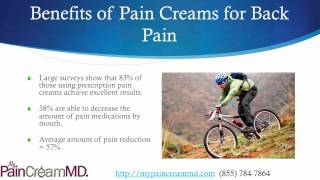 Pain Creams for Back Pain with My Pain Cream MD (855) 784-7864 Thumbnail